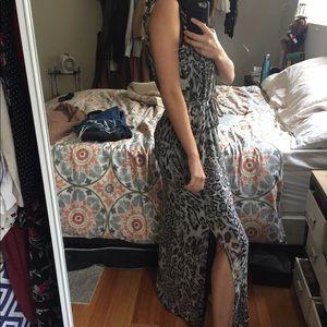 Cheetah maxi dress 0